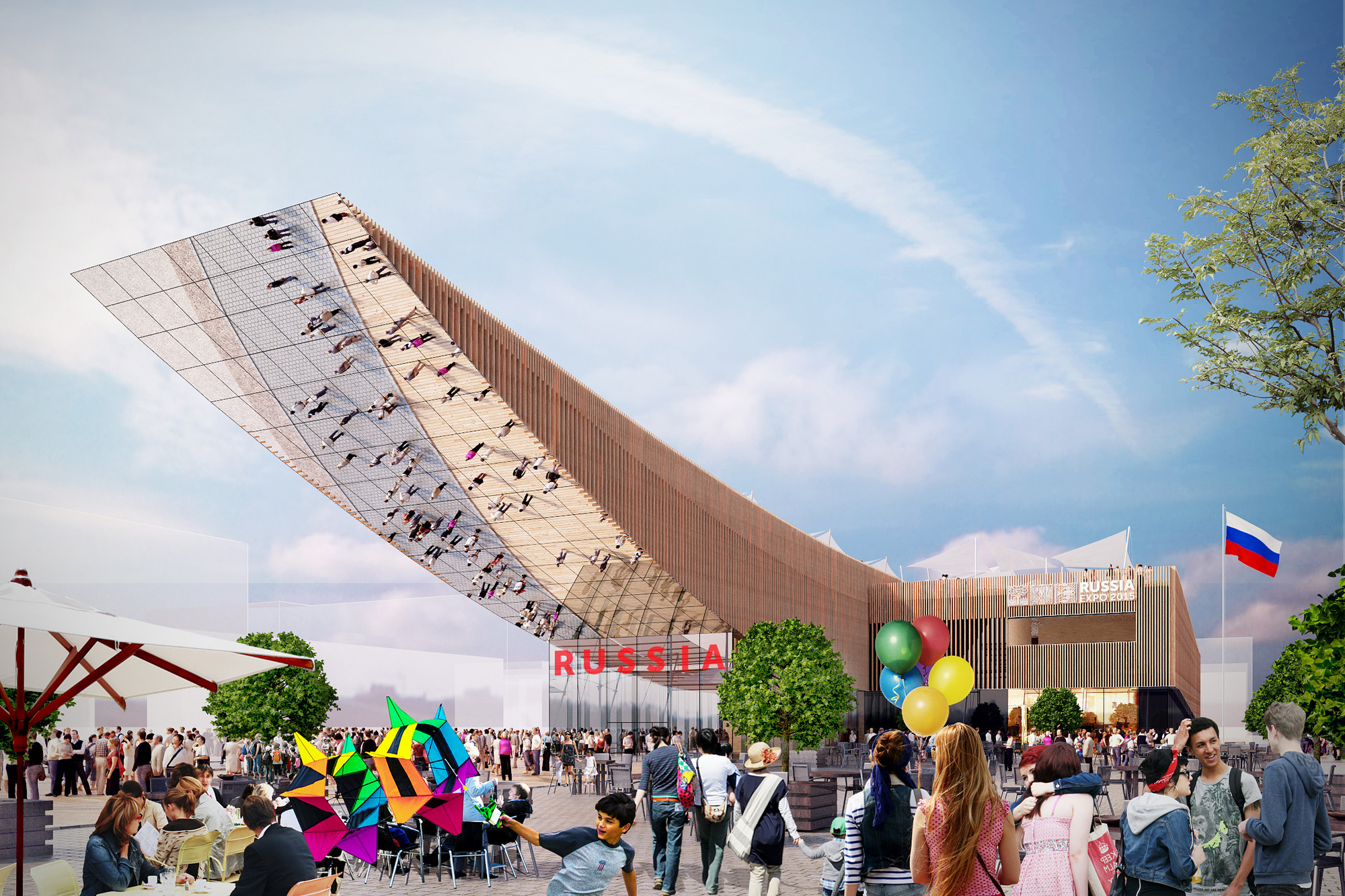 Milan Expo 2015: Russia to Exhibit Expansive Timber Pavilion, Courtesy of Eventica Communications