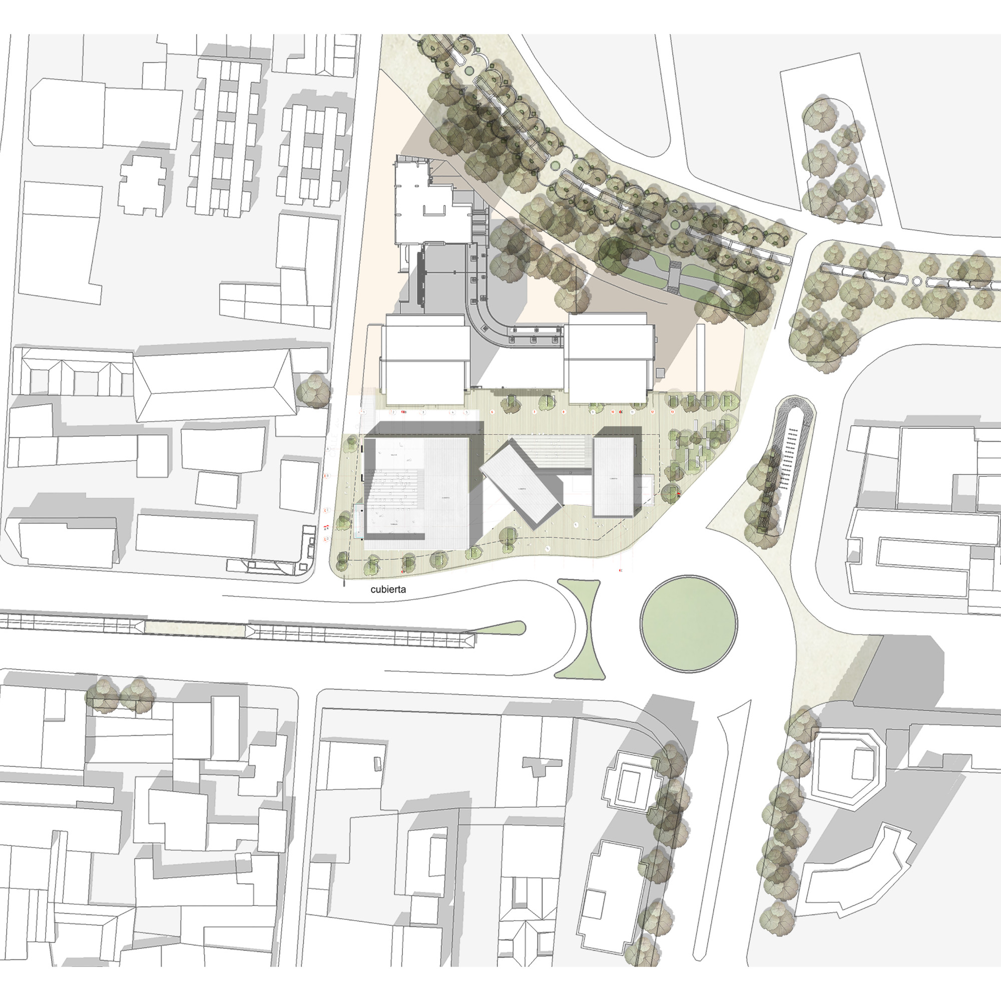 Segundo lugar en concurso p blico del dise o de nueva for Plantas de colegios arquitectura