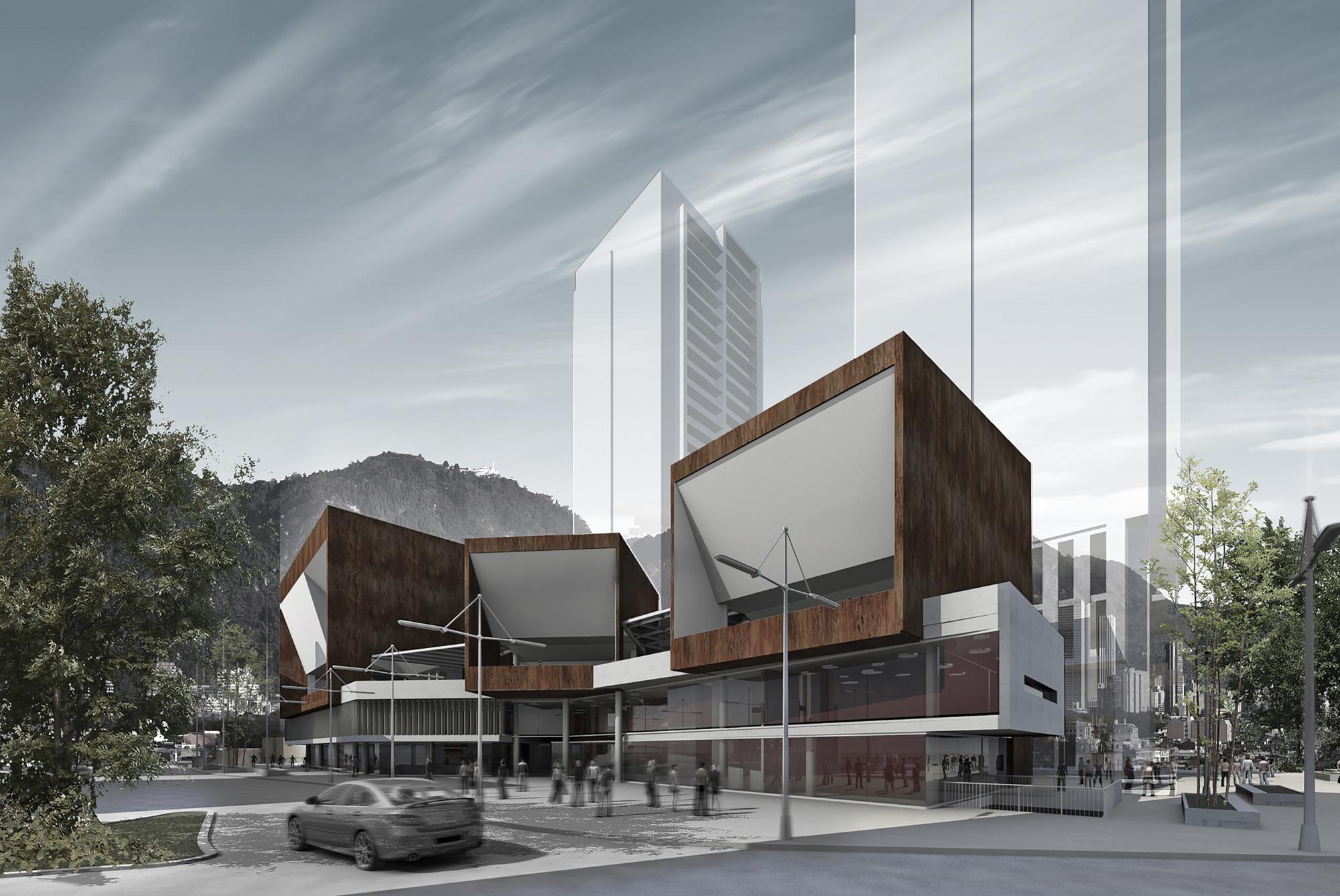 Segundo Lugar en Concurso público del diseño de nueva cinemateca distrital de Bogotá / Colombia, Cortesia de Eje A Arquitectura y Urbanismo