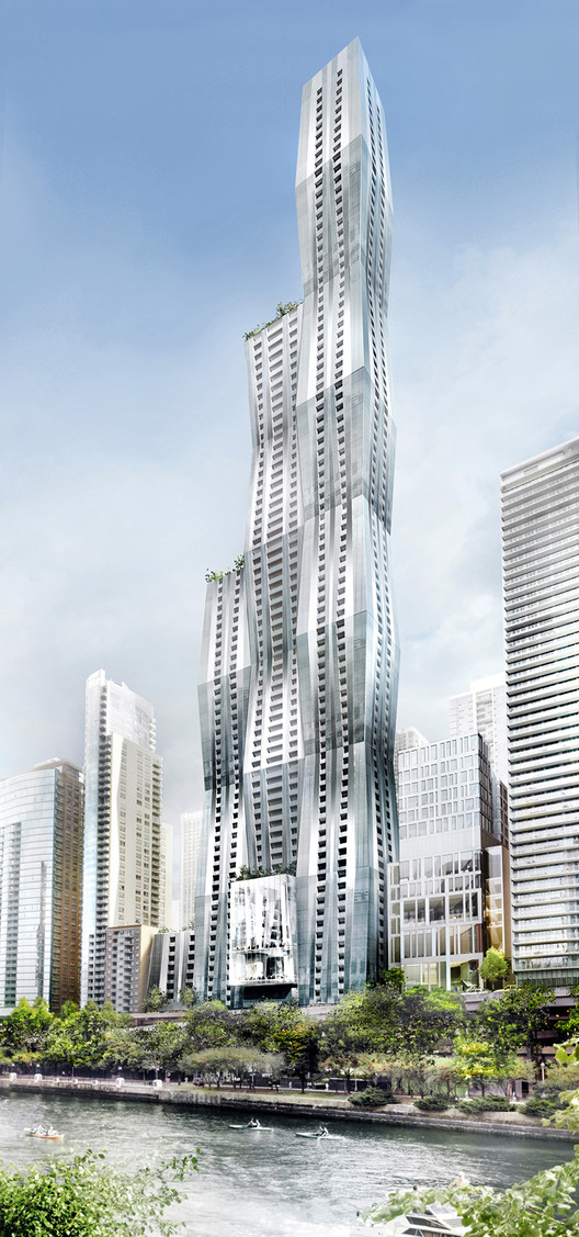 Studio Gang Behind Supertall Tower Planned for Chicago, © City of Chicago