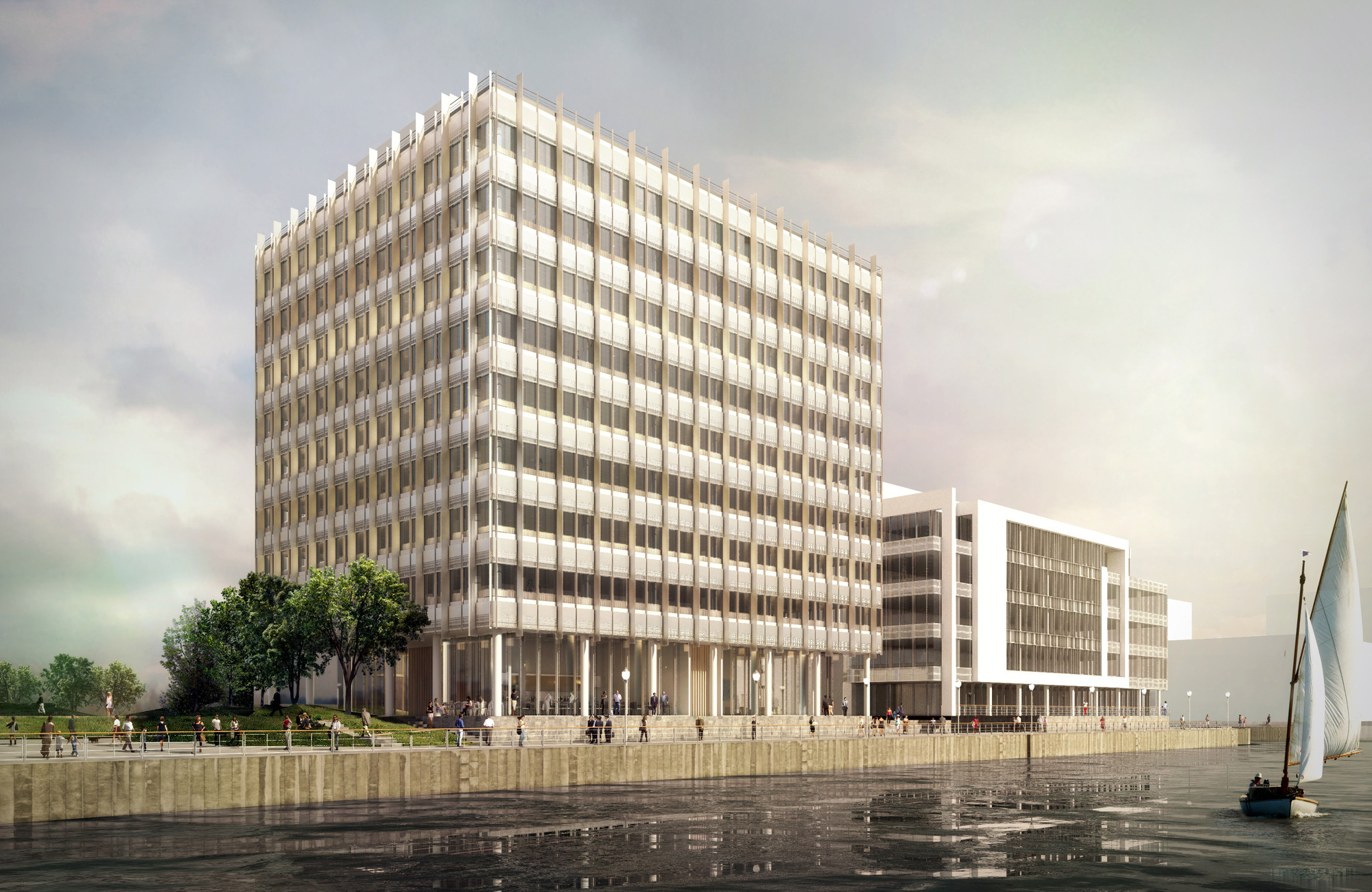 Grimshaw Receives Planning Approval for Phase Two of Belfast's City Quays Masterplan, Courtesy of Grimshaw