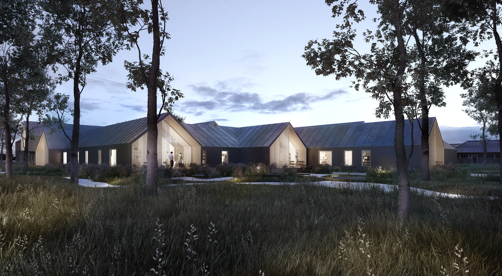 CREO ARKITEKTER and WE architecture Shares First Prize for Danish Psychiatric Hospital , © CREO ARKITEKTER A/S & WE Architecture