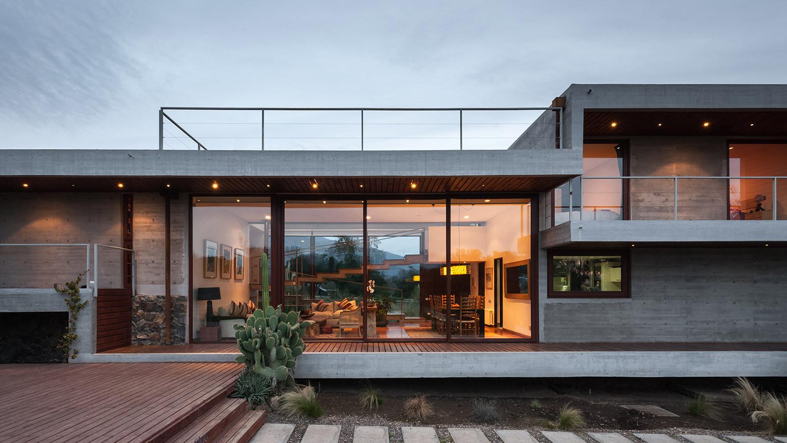 Gallery of corredor house chauriye st ger arquitectos 11 for Casa minimalista una planta