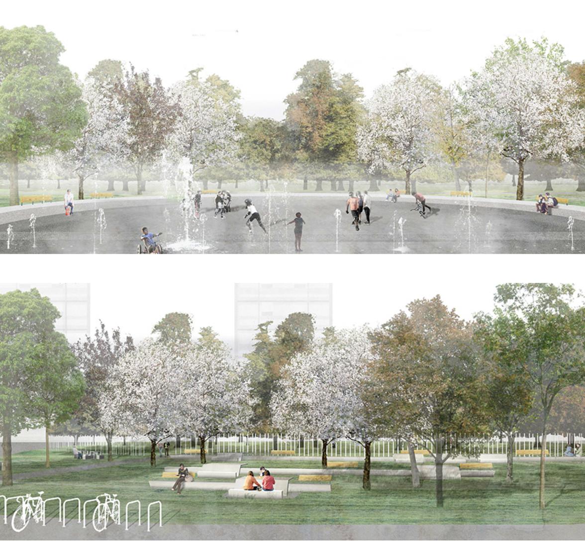 Jadue Livingstone-MOBIL arquitectos, Segundo Lugar en concurso de diseño del Parque Museo Humano San Borja, Cortesia de Paula Livingstone