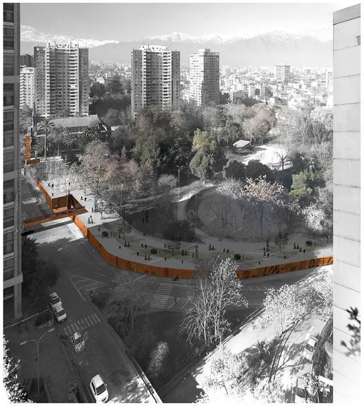 ELEMENTAL, Terceiro Lugar no concurso de desenho do Parque Museu Humano San Borja / Santiago, Cortesia de ELEMENTAL