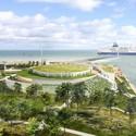 The centre will feature panoramic coastal views. Image © Arte Charpentier Architectes
