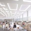 Interior cafe. Image © Arte Charpentier Architectes