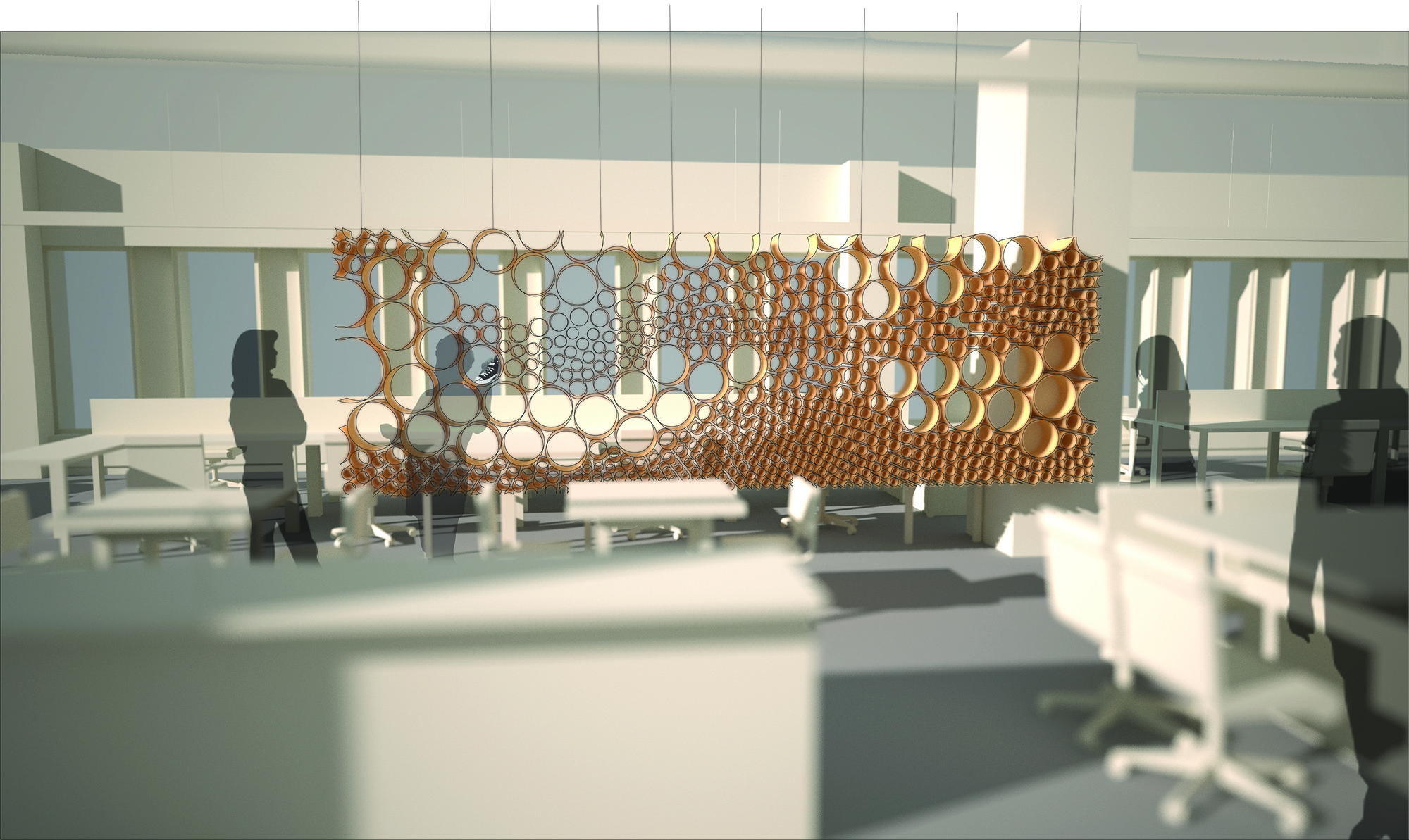 cardboard tube furniture. Cardboard Tube Furniture. Phase One Perspective Rendering. Image Courtesy Of Perkins + Will Furniture U