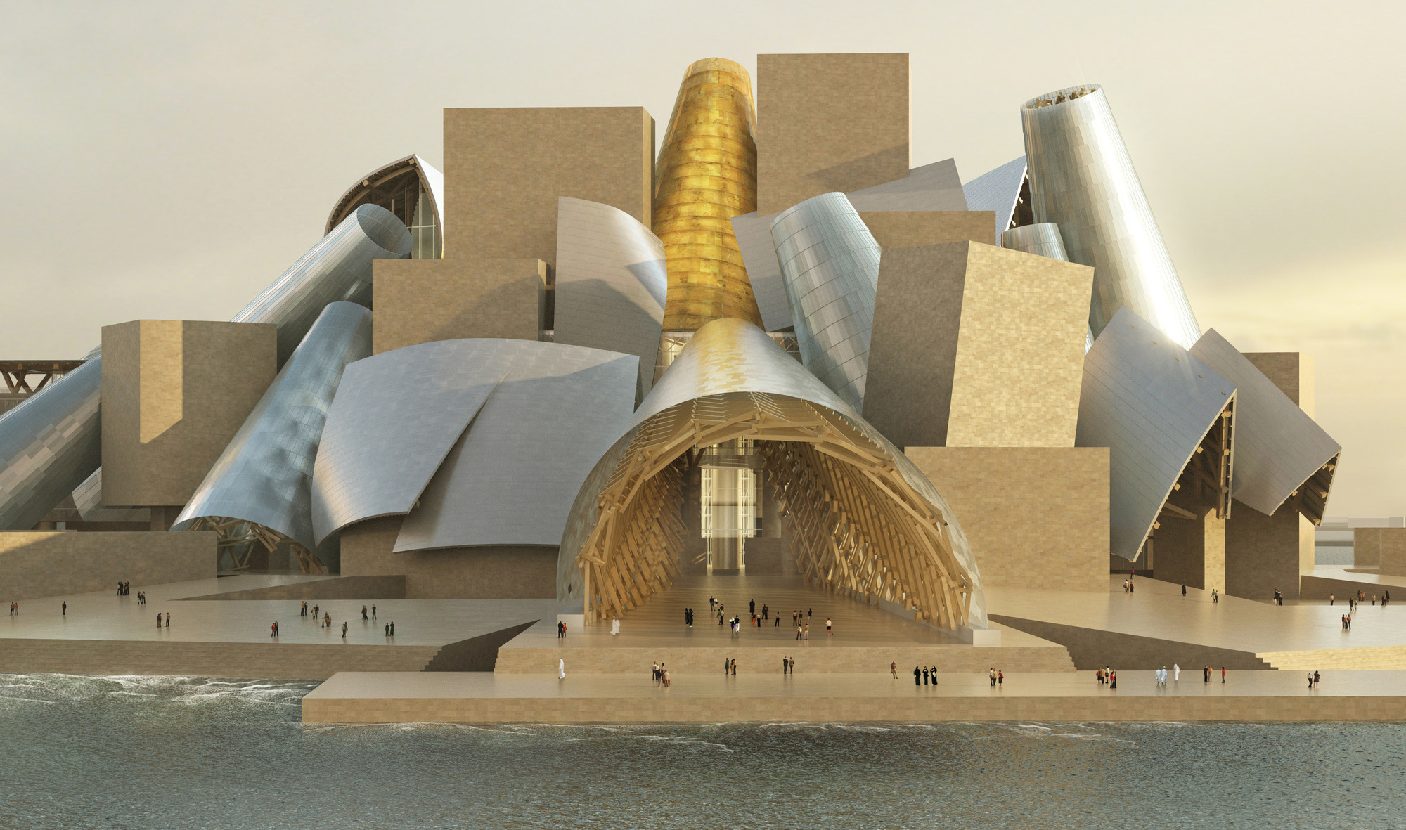 Frank Gehry Tells the Story Behind Guggenheim Abu Dhabi , Guggenheim Abu Dhabi. Image © Gehry Partners