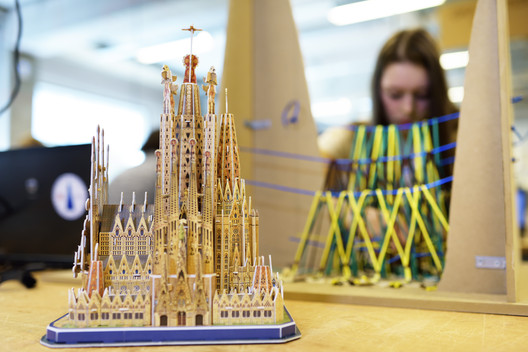 Reimagining the Sagrada Familia in ice. Image © Bart van Overbeeke / TU/e