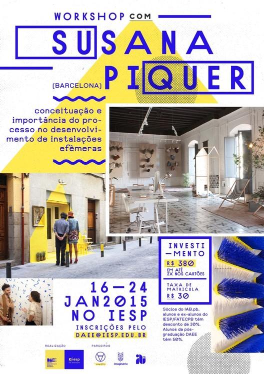 Espaços efêmeros e o mercado de trabalho – Workshop com Susana Piquer