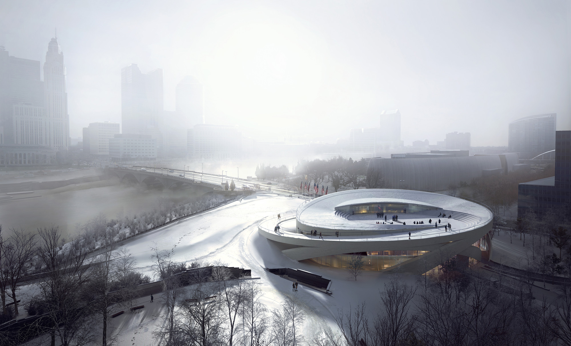 Allied Works Releases Design for Ohio Veterans Memorial and Museum in Columbus , © MIR