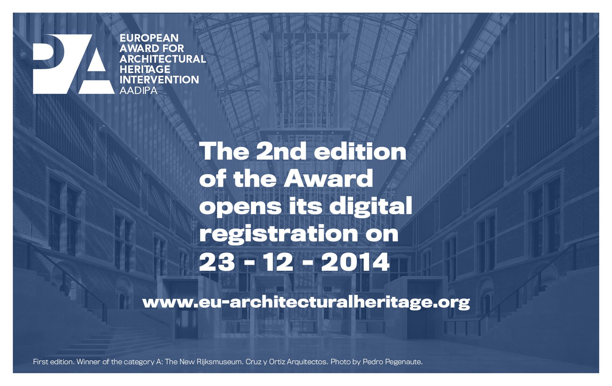 Registration Open: European Award for Architectural Heritage Intervention AADIPA, © European Award for Architectural Heritage Intervention AADIPA