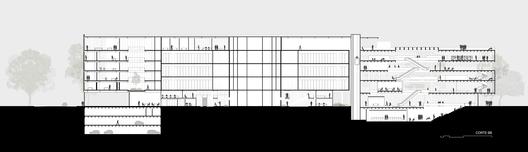 Corte B. Image Cortesia de Estudio BRA Arquitetura