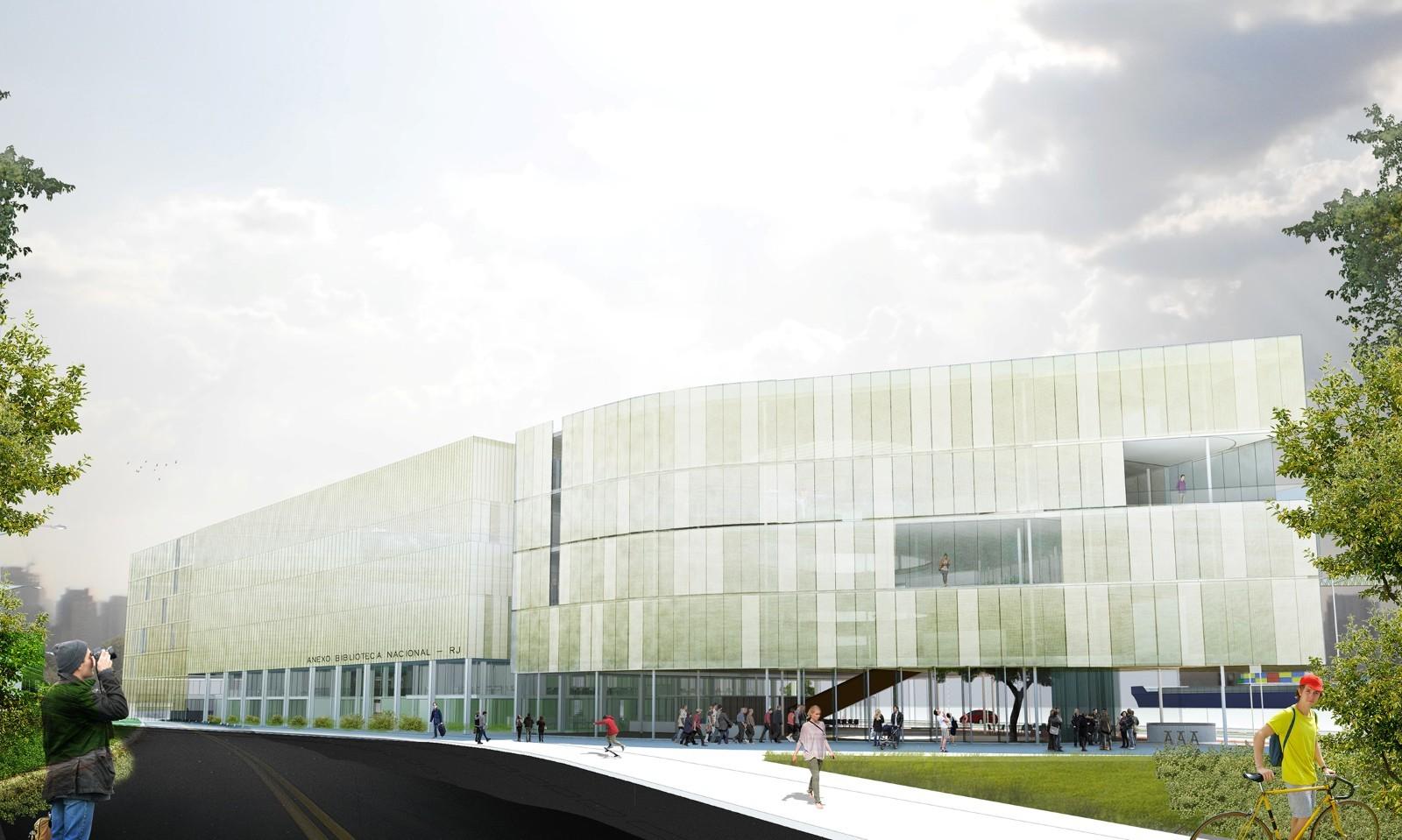 Menção Honrosa no Concurso Anexo da Biblioteca Nacional / Estudio BRA Arquitetura + Mono Arquitetos, Cortesia de Estudio BRA Arquitetura