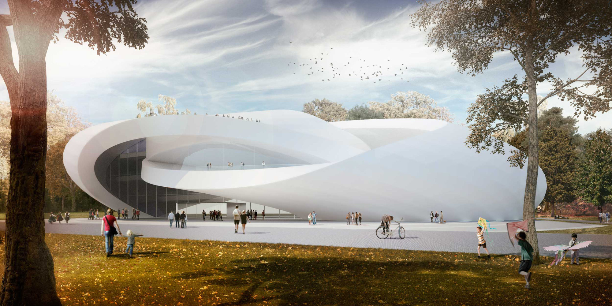 AVA's Sculptural House of Hungarian Music Takes Third for Liget Budapest, Courtesy of Andrea Vattovani Architecture, Segnoprogetto