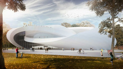 AVA's Sculptural House of Hungarian Music Takes Third for Liget Budapest
