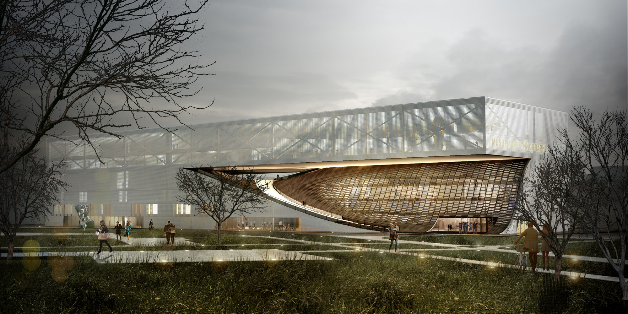 BFarchitecture Takes Second Place in Liget Budapest Museum of Ethnography Competition, Courtesy of BFarchitecture