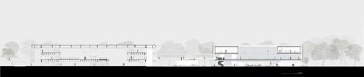 Corte AA. Image Cortesia de Estudio BRA Arquitetura