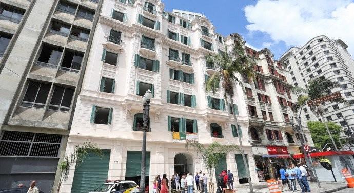 Edifício abandonado no centro de São Paulo é transformado em moradia para artistas, Palacete dos Artistas. Fonte da imagem: Catraca Livre