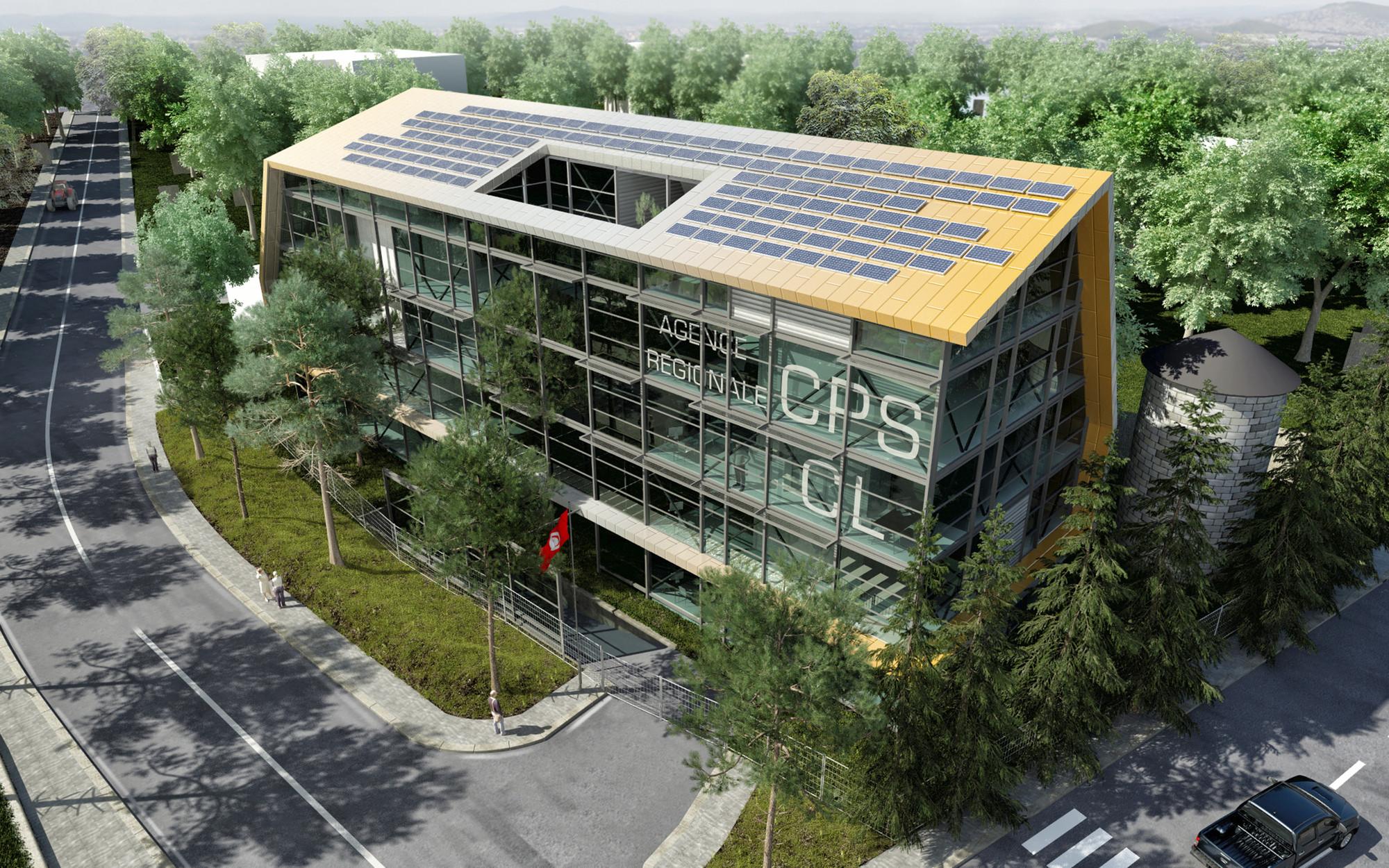 hk+b Architecture vence concurso para projetar um edifício de escritórios na Tunísia, Cortesia de hk+b Architecture
