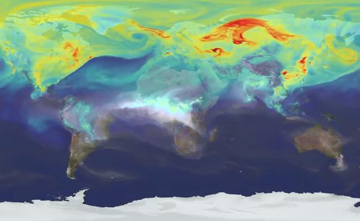 Impresionante video de la NASA muestra cómo viaja la contaminación en la Tierra