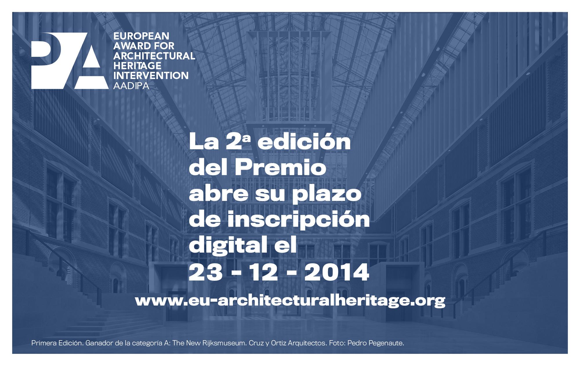 Abren convocatoria para el premio Europeo de Intervención en el Patrimonio Arquitectónico AADIPA