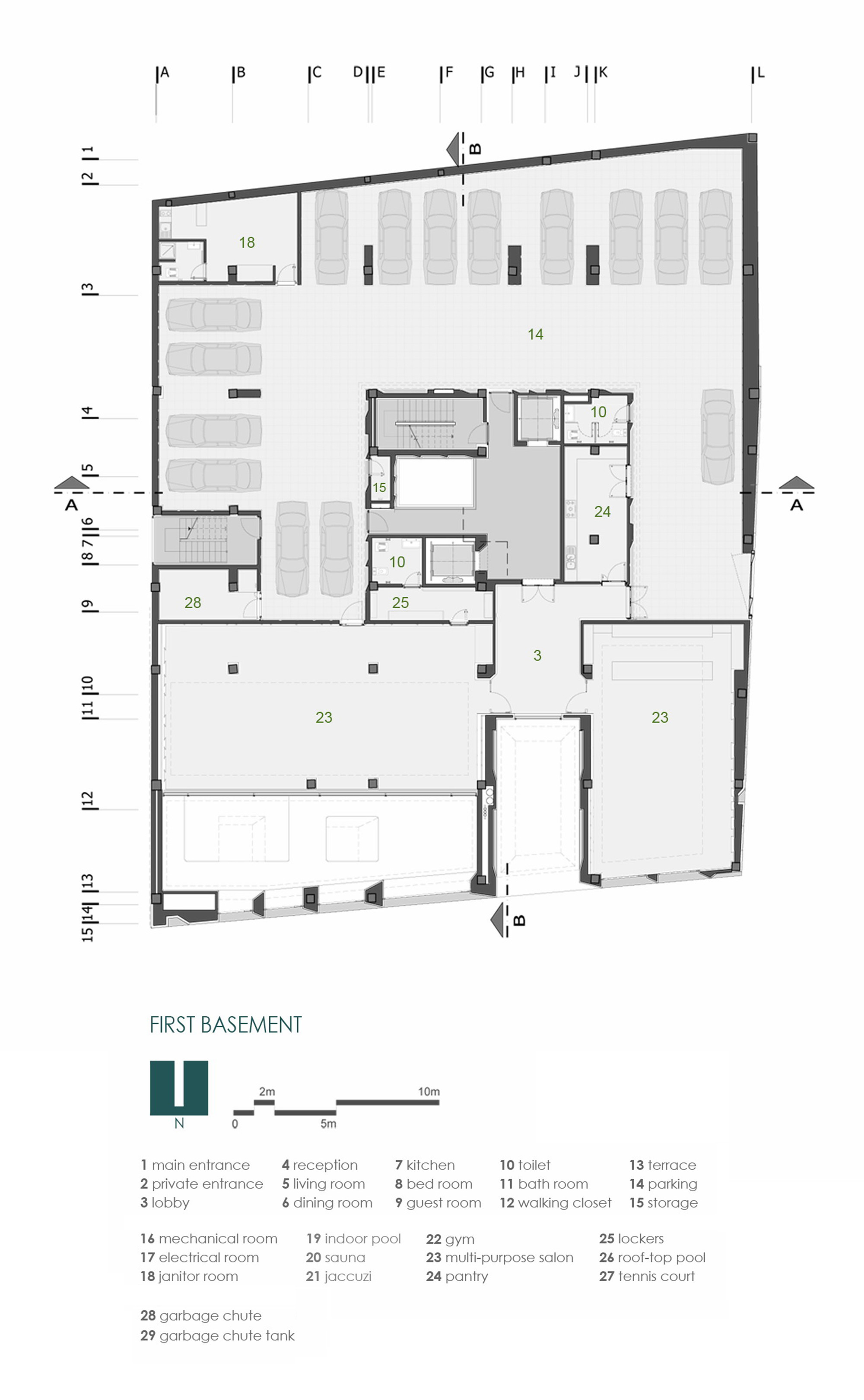 Gallery of sipan residential building ryra studio 22 for Residential building floor plan