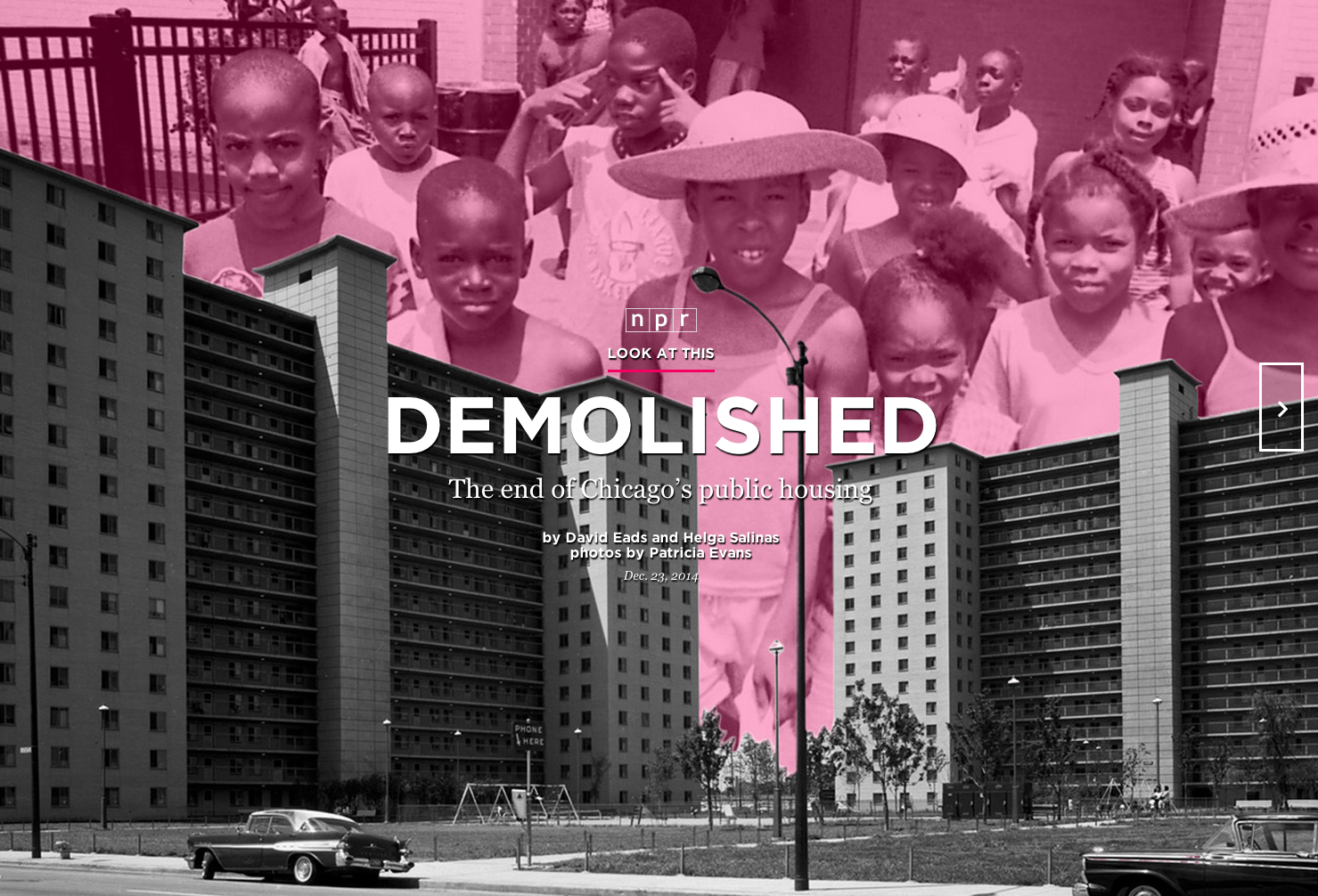Demolished: The End of Chicago's Public Housing, Courtesy of NPR