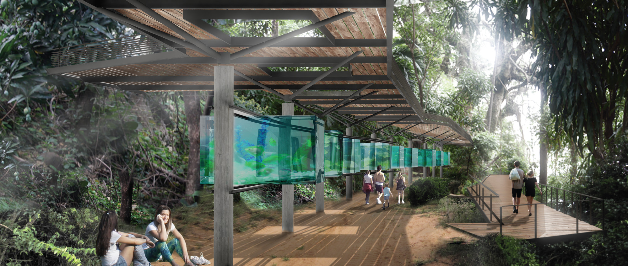 Menção Honrosa no Concurso Nacional Parque do Mirante de Piracicaba / Apiacás Arquitetos, Cortesia de Apiacás Arquitetos