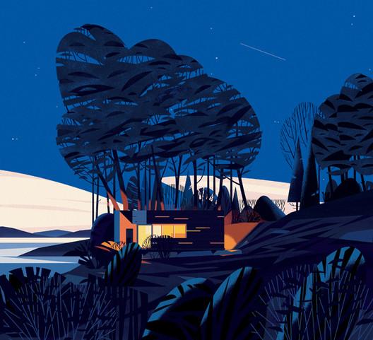 Sunset Cabin, Canadá . Imagem Cortesia de Marie-Laure Cruschi