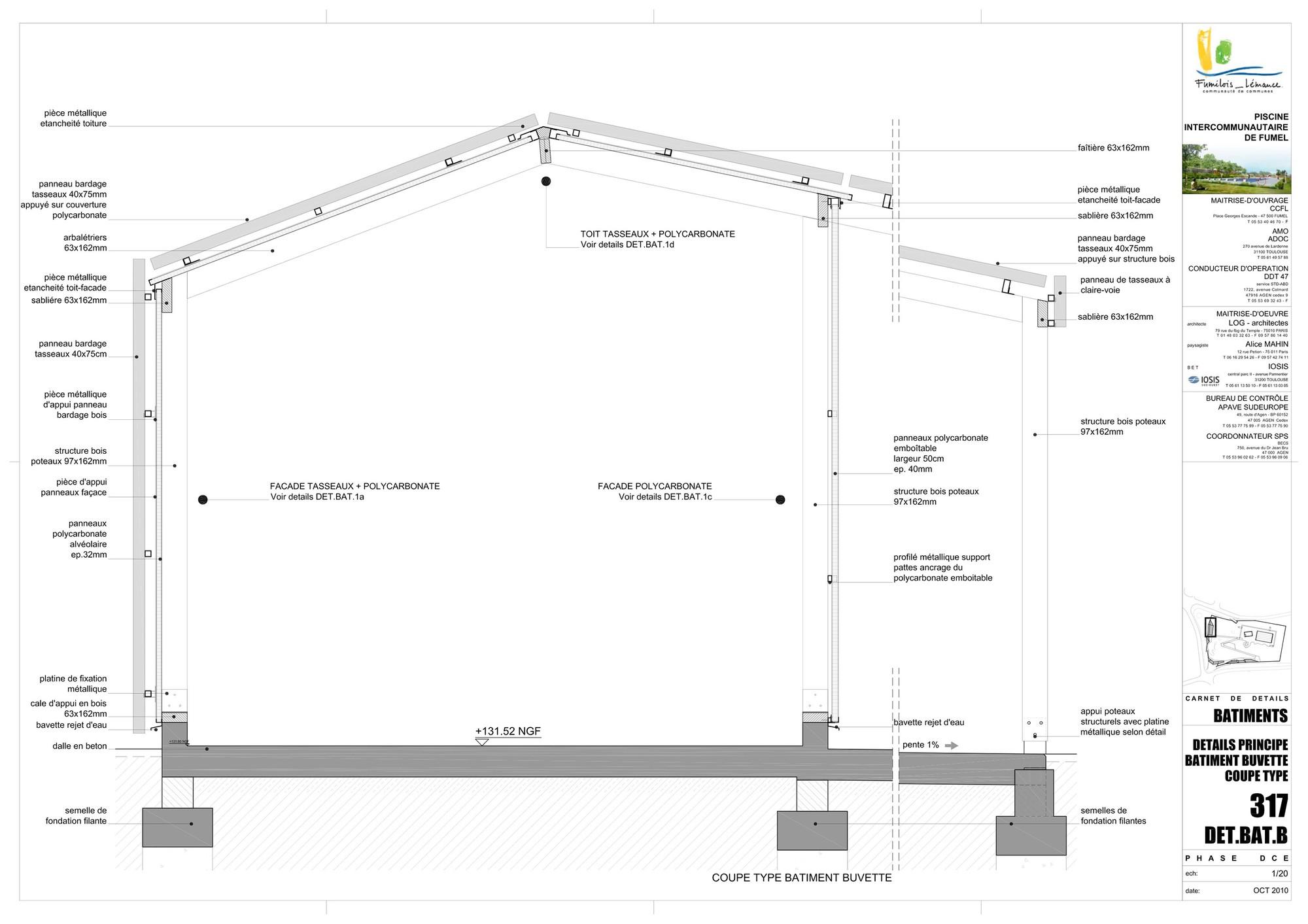 galer a de piscina th tre d 39 eau log architectes 32. Black Bedroom Furniture Sets. Home Design Ideas