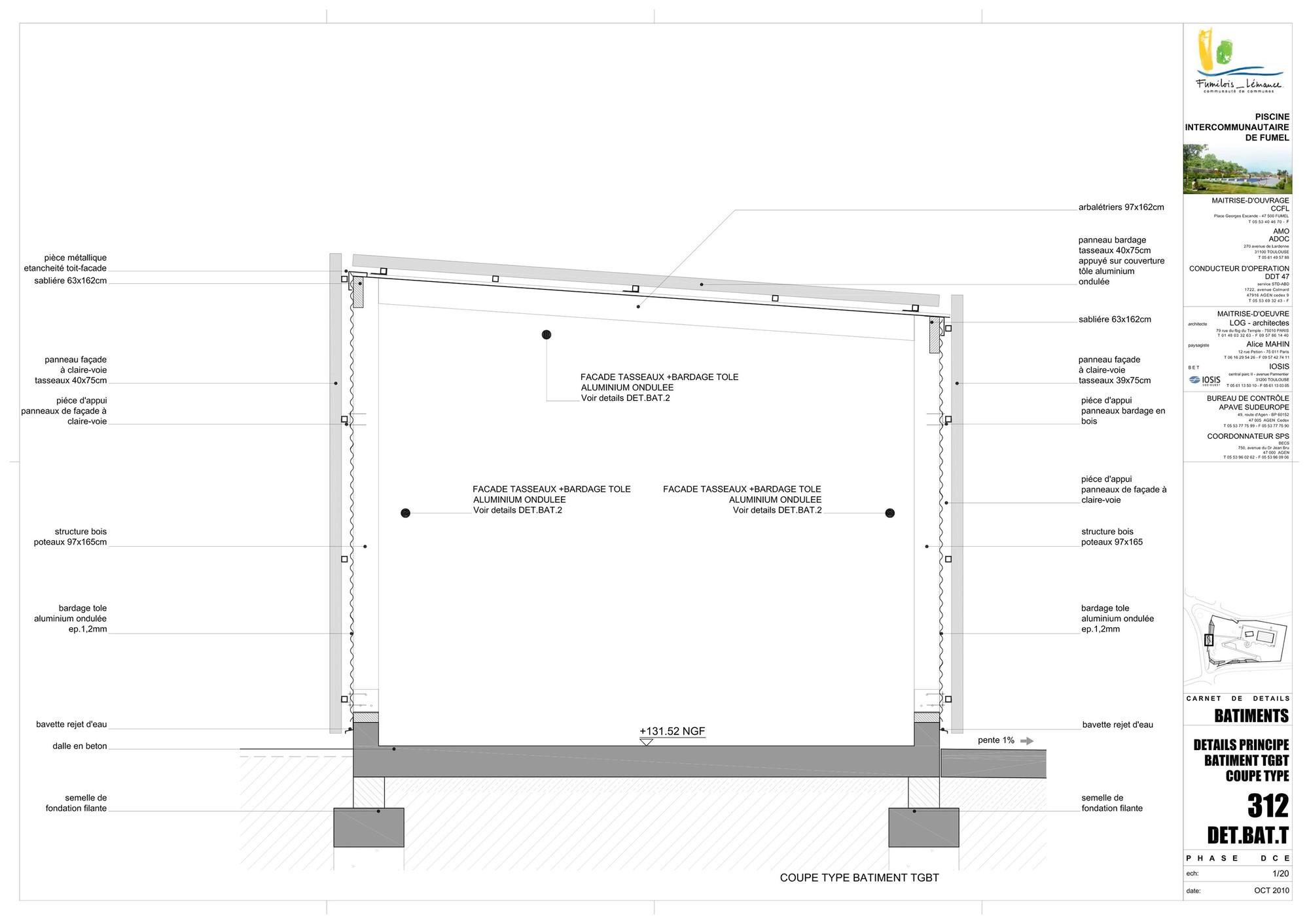 galeria de piscina th tre d 39 eau log architectes 34. Black Bedroom Furniture Sets. Home Design Ideas