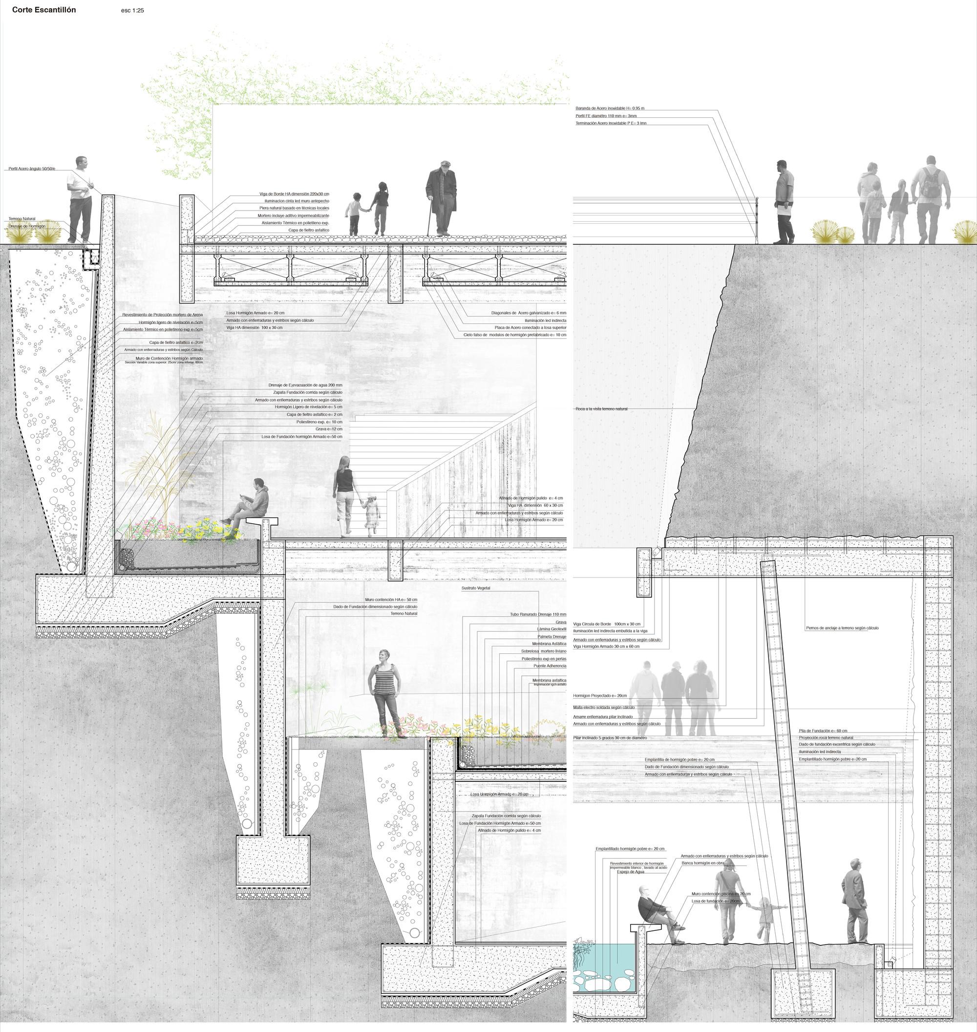 Galeria Arquitectonica: Galería De Jardín Botánico De Calama, Primer Lugar En