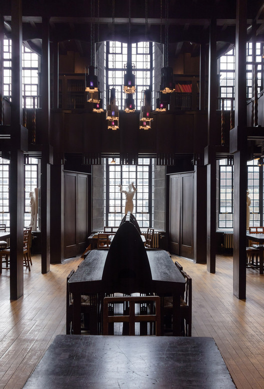 When Does A Restoration Become A Replica?, 'Lost View' - photograph of Charles Rennie Mackintosh's library (taken 2nd April 2014). Image © Robert Proctor