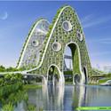 Bridge Tower. Image Courtesy of Vincent Callebaut Architecture