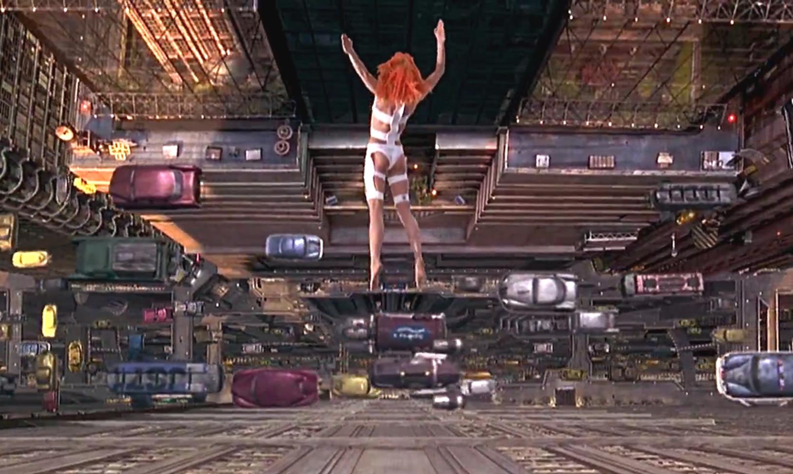 """11 filmes imperdíveis do """"Cinema e Arquitetura"""": utopia e cidades do futuro , Cena do filme: """"O Quinto Elemento"""""""