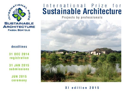 Prorrogado o prazo de inscrição para o Prêmio Internacional Fassa Bortolo de Arquitetura Sustentável