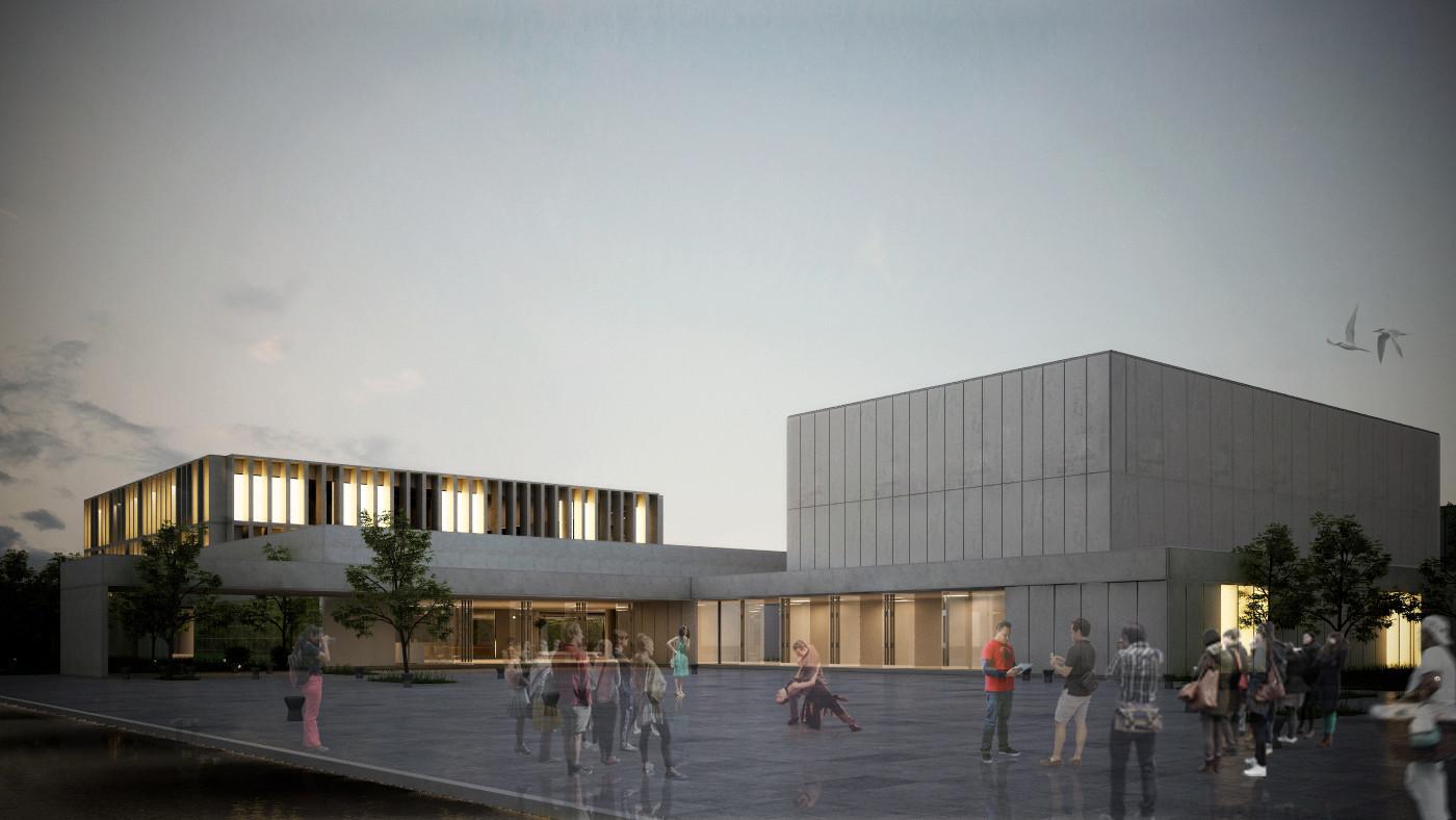 Primer Lugar en concurso del complejo cultural de la Universidad Nacional de Moreno / Argentina, Cortesia de Equipo Primer Lugar