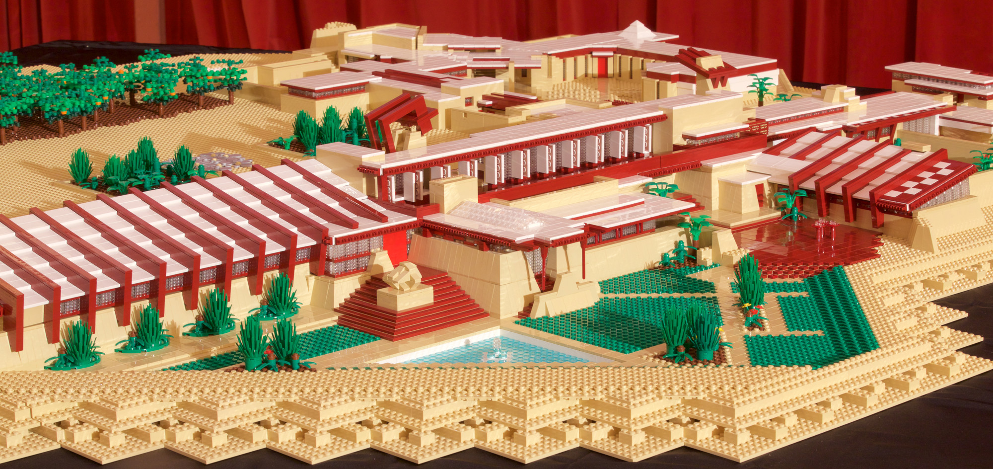 taliesin west reconstructed as largest frank lloyd wright lego