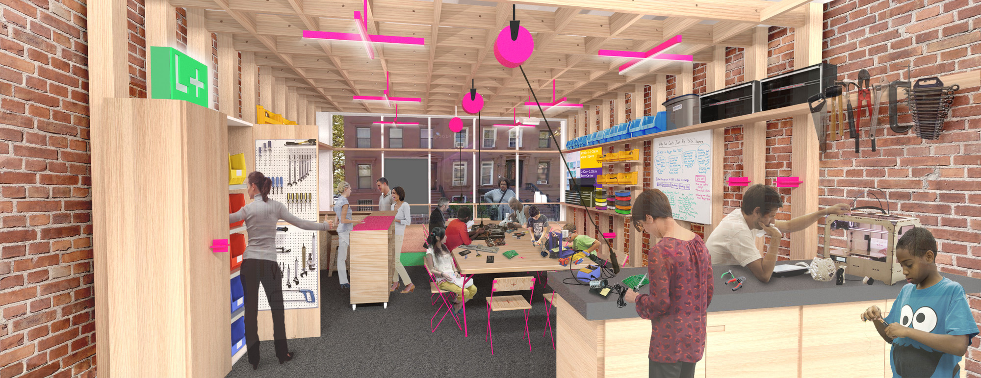 Five Design Teams Re Envision New Yorku0027s Public Libraries,Concept For  Storefront Outpost Maker