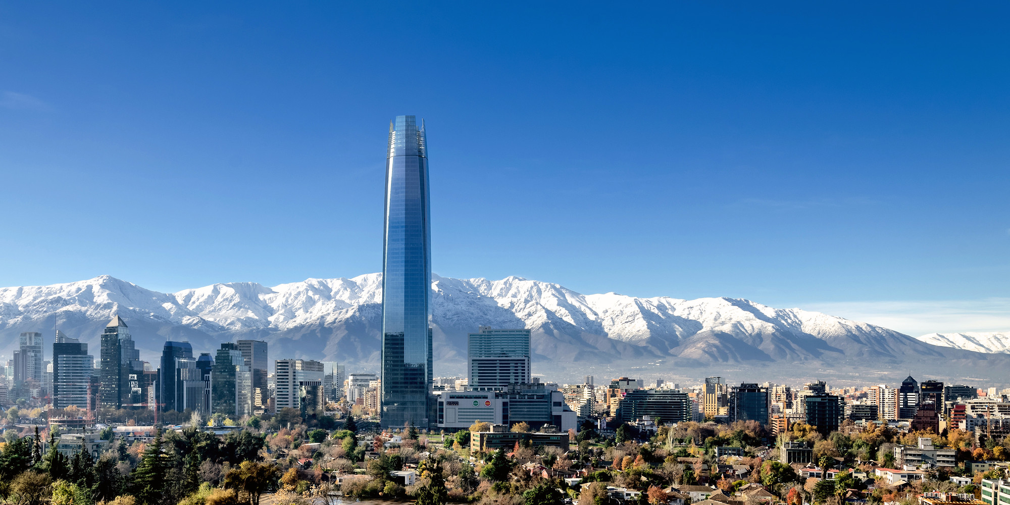 13 New Buildings Join the World's 100 Tallest List in Record-Breaking Year, 2014 Tallest #10: Torre Costanera, Santiago, 300 meters. Image © Pablo Blanco