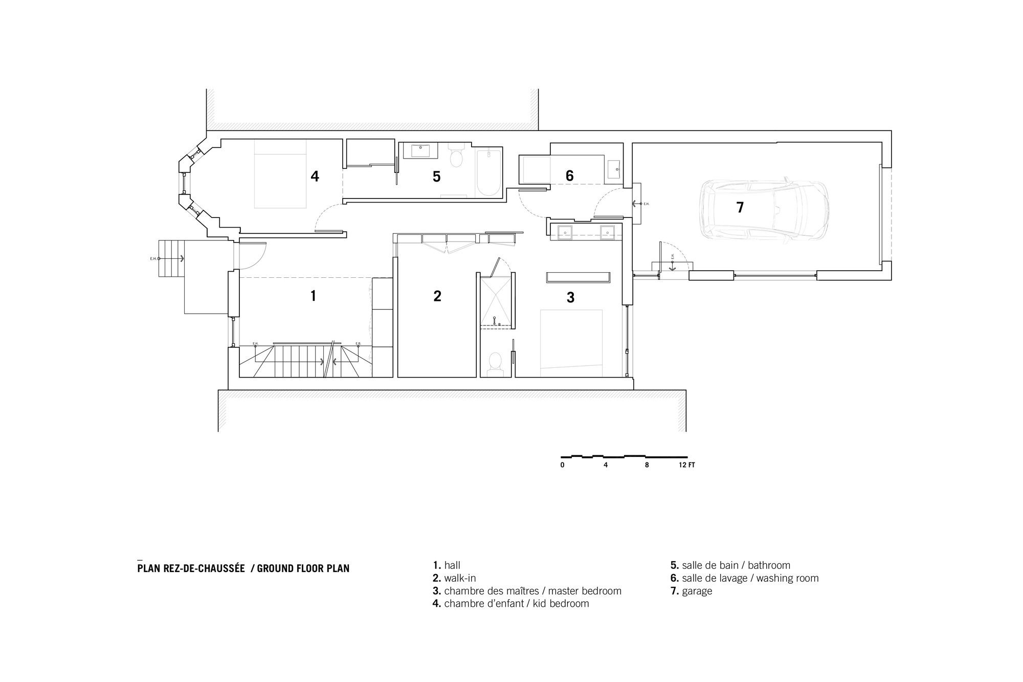 Drolet Residence,Ground Floor Plan