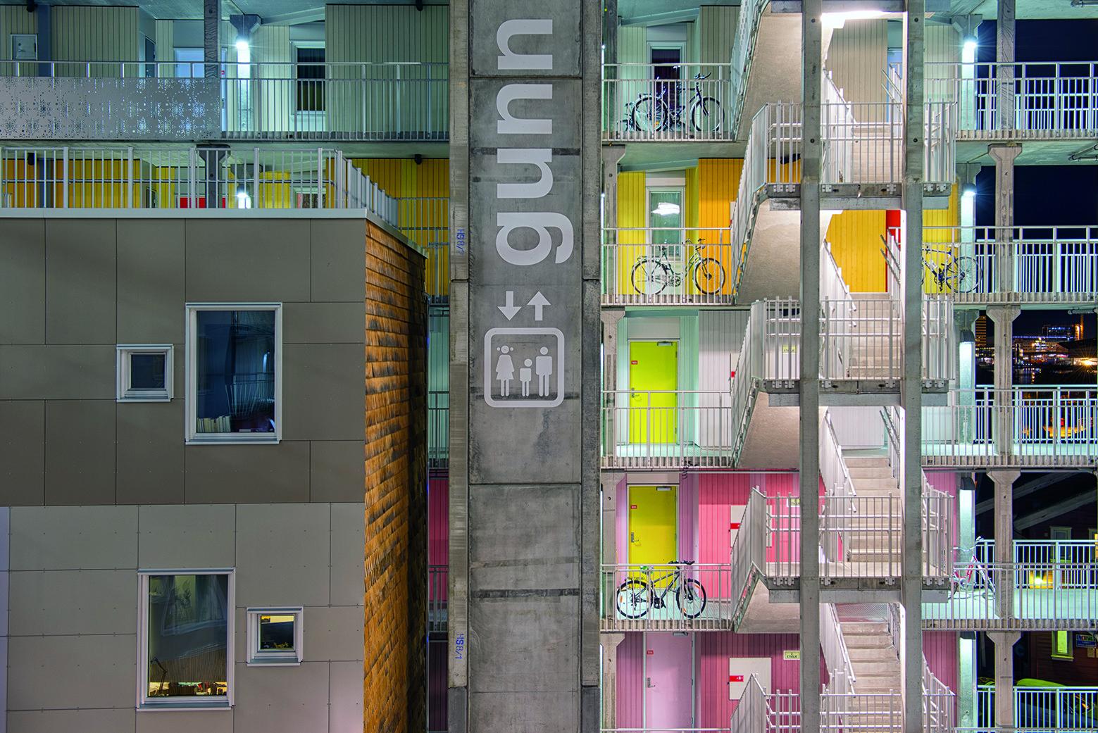 Departamentos de Estudiantes Grønneviksøren / 3RW Arkitekter, © Cecilie Bannow