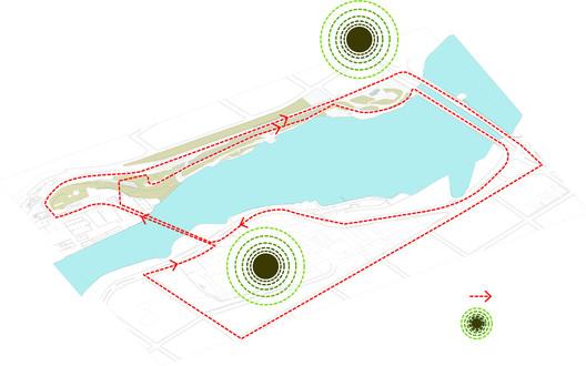 Esquema de circulação. Image © Davis Brody Bond Architects and Planners