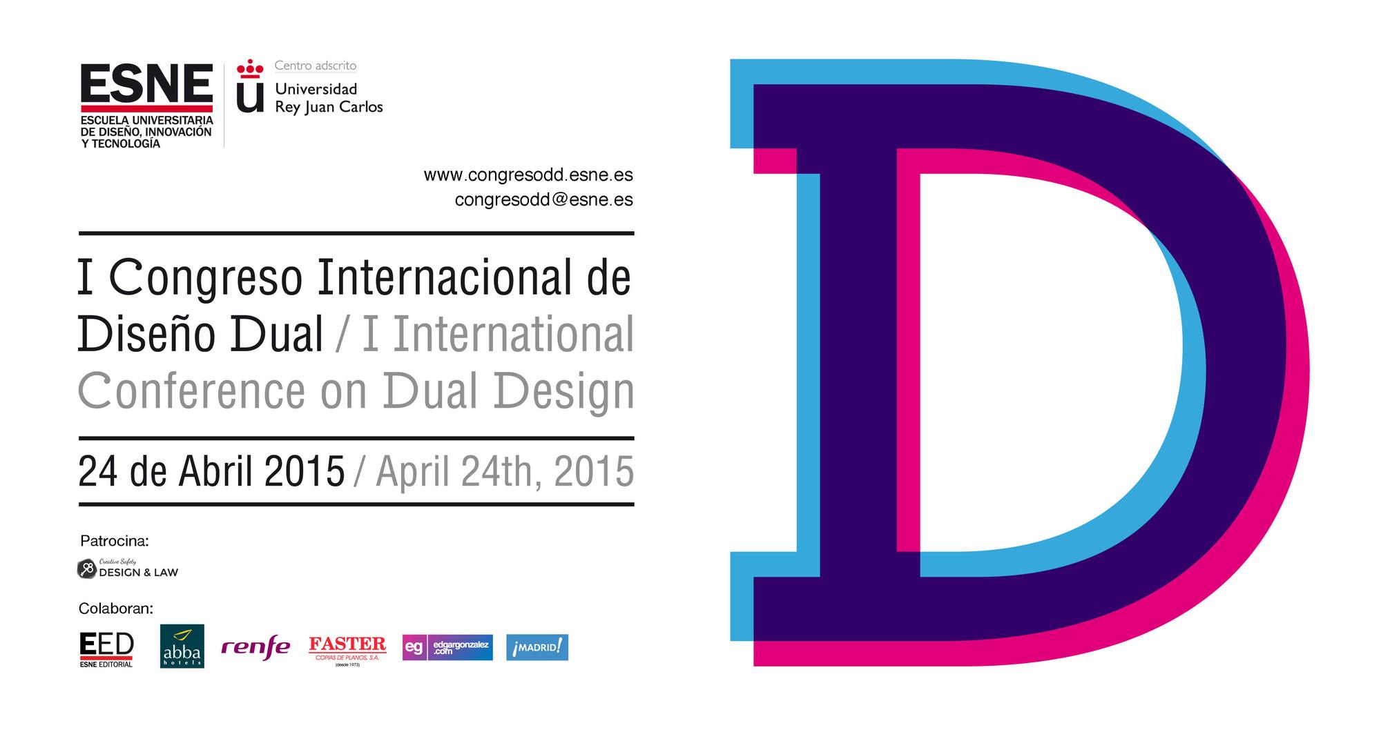 Convocatoria al primer Congreso Internacional de Diseño Dual / Madrid