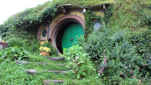 """Hobbiton,"" the home of the virtuous Hobbits. Image © www.bonvoyadventuretravel.com"