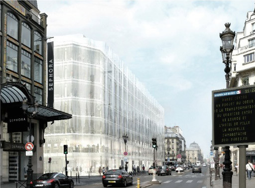 SANAA's Plans For La Samaritaine in Paris Blocked Once Again, Rendering (2011). Image © SANAA