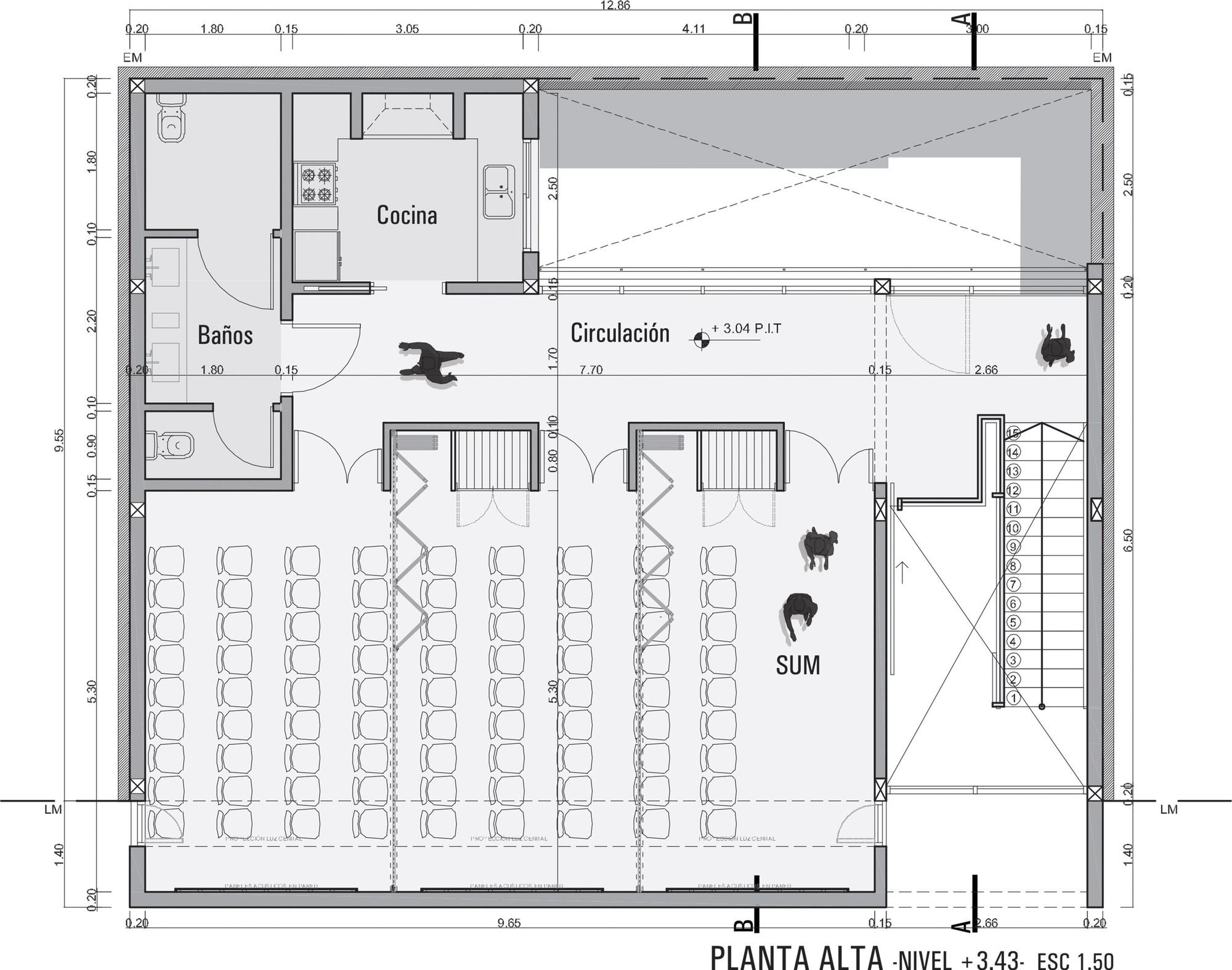 Galer a de colegio de arquitectos de la provincia de for Plantas de colegios arquitectura