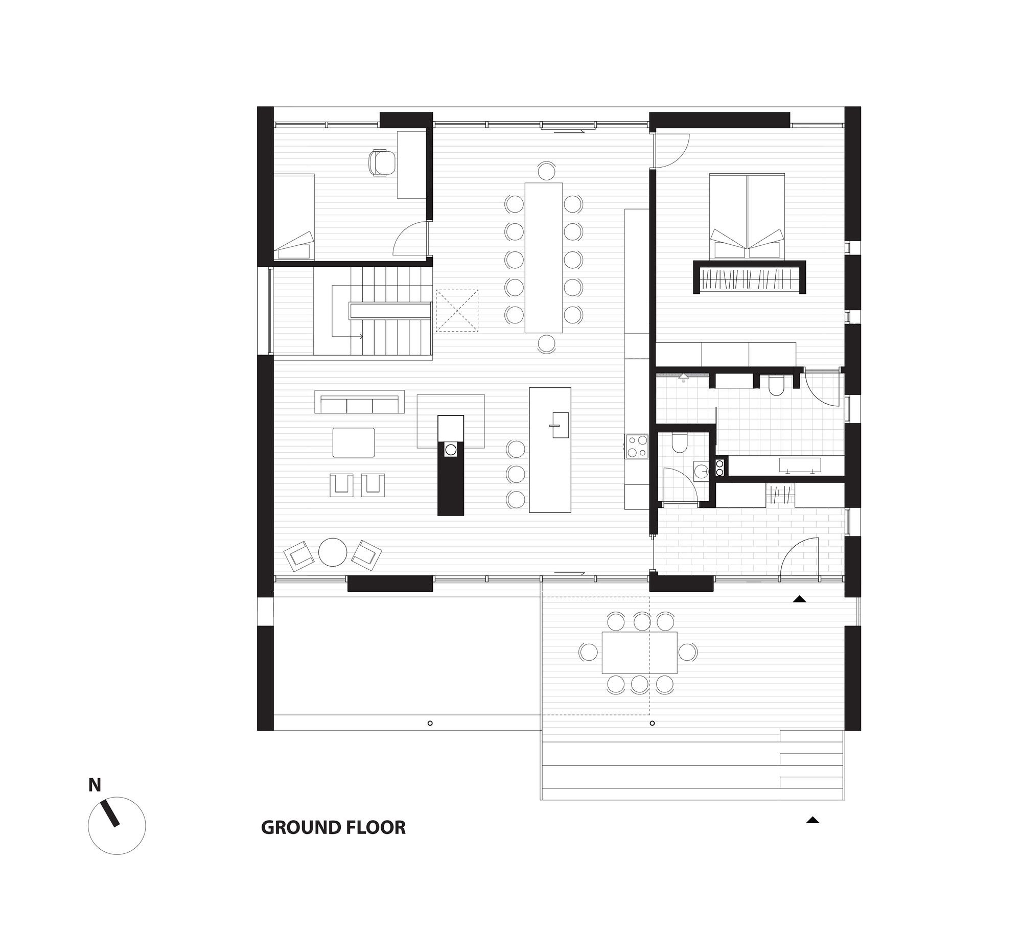 Villa r c f m ller architects plataforma arquitectura for Copying house plans